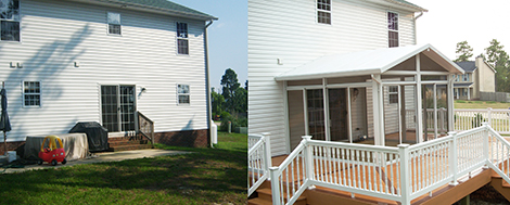 Before & After Sunroom Addition
